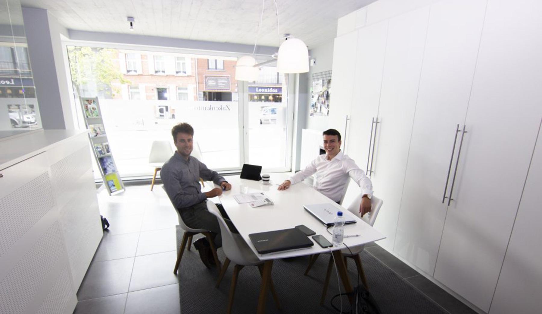 zaakvoerders in kantoor